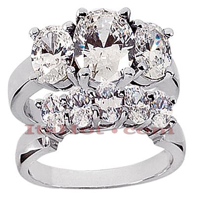 14K Gold Diamond Engagement Mounting Set 2.75ct