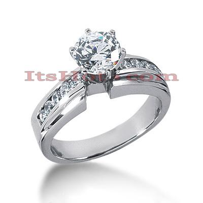 14K Gold Diamond Engagement Ring 0.74ct