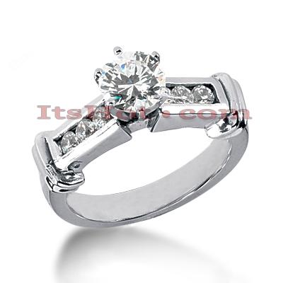 14K Gold Diamond Engagement Ring 0.80ct