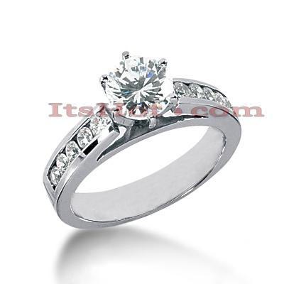 14K Gold Diamond Engagement Ring 0.85ct