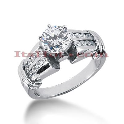 14K Gold Diamond Engagement Ring 0.86ct