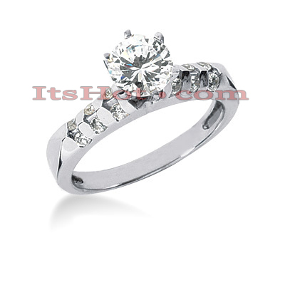 14K Gold Diamond Engagement Ring 0.86ct