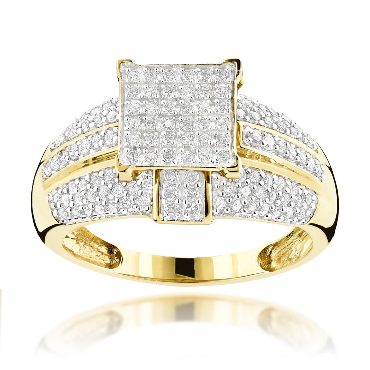 14K Gold Diamond Engagement Ring 0.93ct