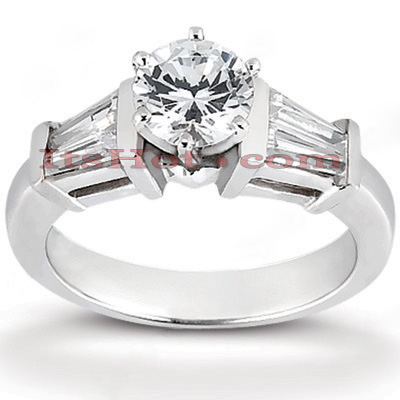 14K Gold Diamond Engagement Ring 0.98ct