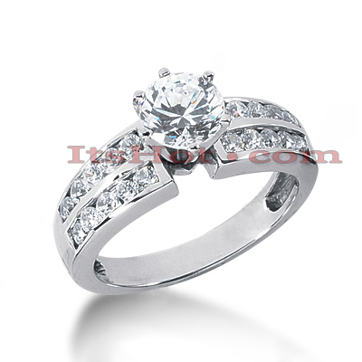 14K Gold Diamond Engagement Ring 1.10ct