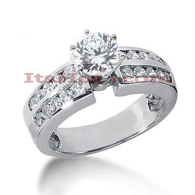 14K Gold Diamond Engagement Ring 1.14ct