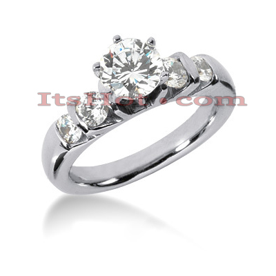 14K Gold Diamond Engagement Ring 1.14ct