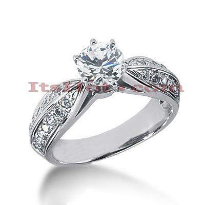 14K Gold Diamond Engagement Ring 1.20ct