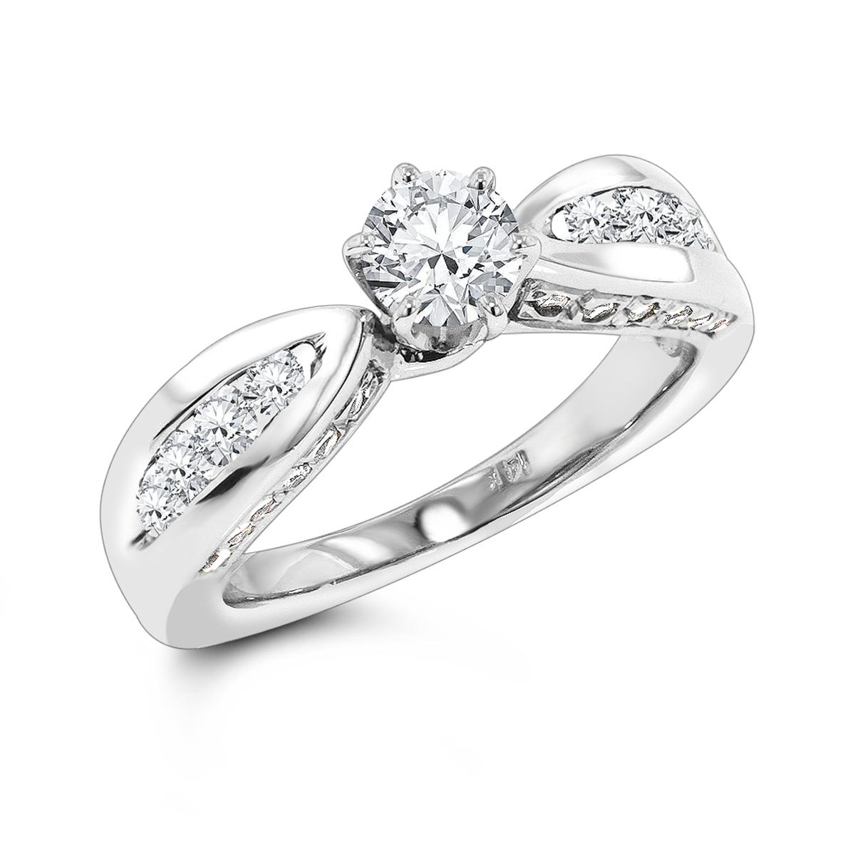 14K Gold Diamond Engagement Ring 1.24ct