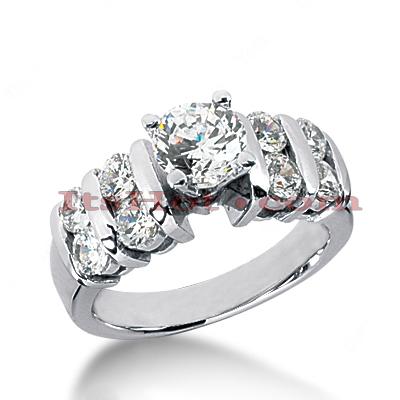 14K Gold Diamond Engagement Ring 1.42ct