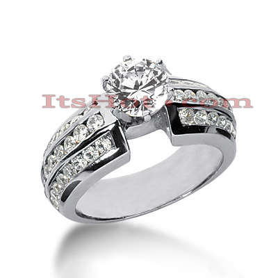 14K Gold Diamond Engagement Ring 1.75ct