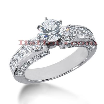 14K Gold Diamond Engagement Ring 2.72ct