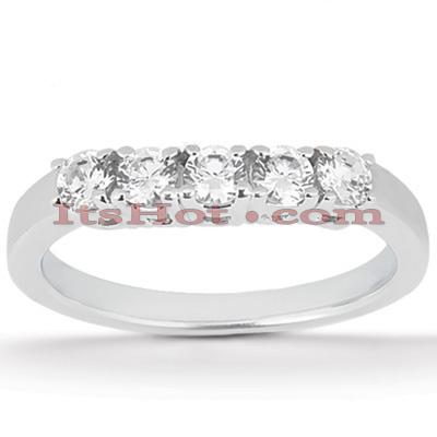 Thin 14K Gold Diamond Engagement Ring Band 0.20ct