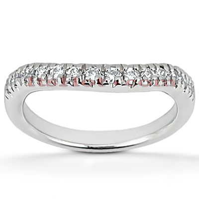 Thin 14K Gold Diamond Engagement Ring Band 0.28ct
