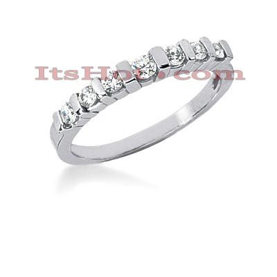 Thin 14K Gold Diamond Engagement Ring Band 0.28ct