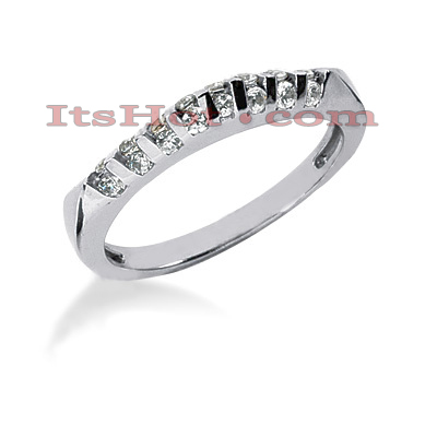 Thin 14K Gold Diamond Engagement Ring Band 0.40ct