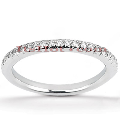 Thin 14K Gold Diamond Engagement Ring Band 0.49ct