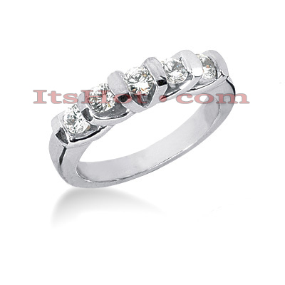 Thin 14K Gold Diamond Engagement Ring Band 0.60ct