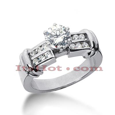 14K Gold Diamond Engagement Ring Mounting 0.03ct
