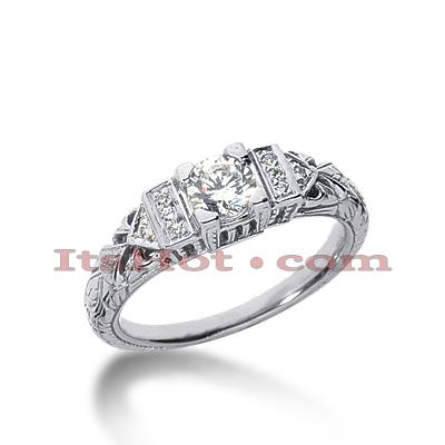 14K Gold Diamond Engagement Ring Mounting 0.04ct
