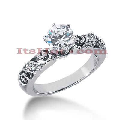 14K Gold Diamond Engagement Ring Mounting 0.07ct