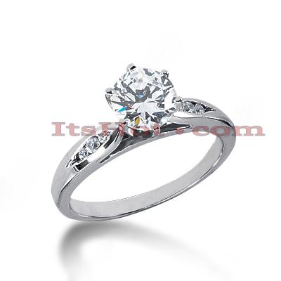 14K Gold Diamond Engagement Ring Mounting 0.08ct