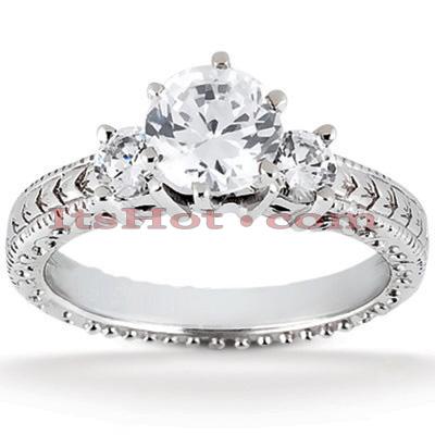 14K Gold Diamond Engagement Ring Mounting 0.10ct