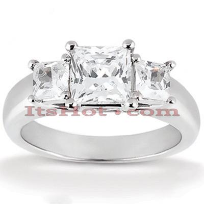 Thin 14K Gold Diamond Engagement Ring Mounting 0.10ct
