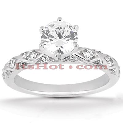 14K Gold Diamond Engagement Ring Mounting 0.12ct
