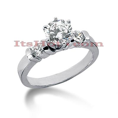 14K Gold Diamond Engagement Ring Mounting 0.14ct