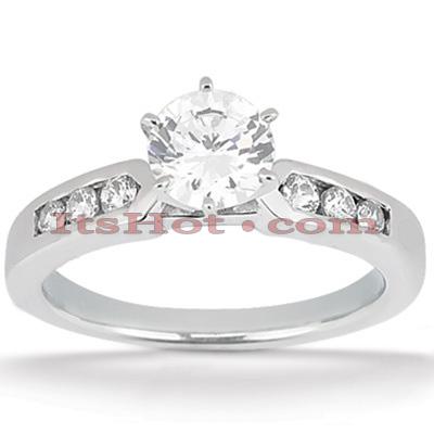 14K Gold Diamond Engagement Ring Mounting 0.15ct