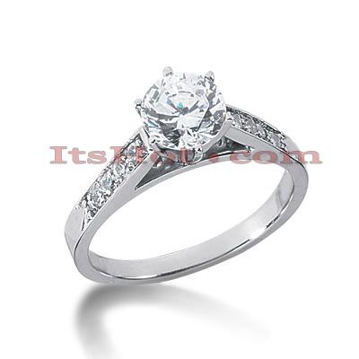 14K Gold Diamond Engagement Ring Mounting 0.16ct