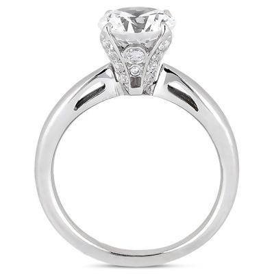 14K Gold Diamond Engagement Ring Mounting 0.19ct