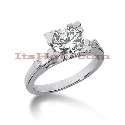 14K Gold Diamond Engagement Ring Mounting 0.20ct