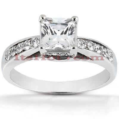 14K Gold Diamond Engagement Ring Mounting 0.21ct