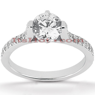 14K Gold Diamond Engagement Ring Mounting 0.22ct