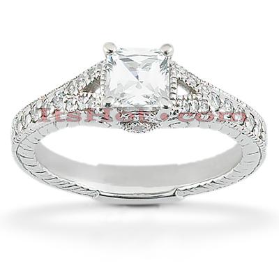 14K Gold Diamond Engagement Ring Mounting 0.23ct
