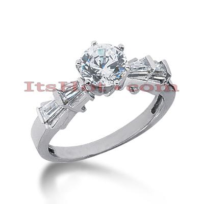 14K Gold Diamond Engagement Ring Mounting 0.24ct