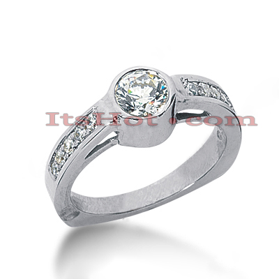 14K Gold Diamond Engagement Ring Mounting 0.25ct