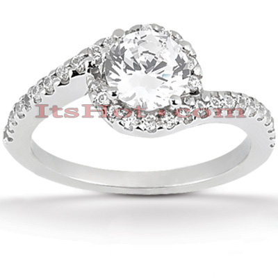 Halo 14K Gold Diamond Engagement Ring Mounting 0.26ct