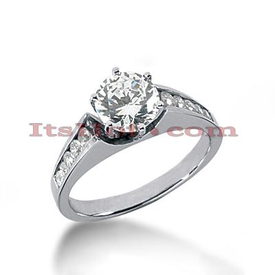 14K Gold Diamond Engagement Ring Mounting 0.27ct