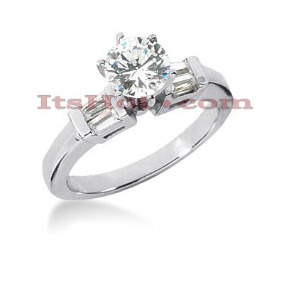14K Gold Diamond Engagement Ring Mounting 0.28ct