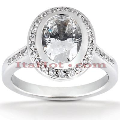 Halo 14K Gold Diamond Engagement Ring Mounting 0.29ct