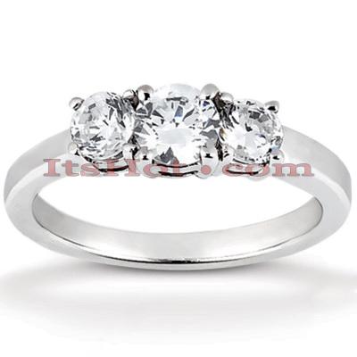 14K Gold Diamond Engagement Ring Mounting 0.30ct