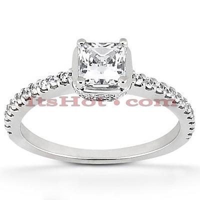 14K Gold Diamond Engagement Ring Mounting 0.31ct