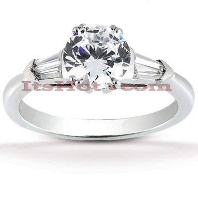 14K Gold Diamond Engagement Ring Mounting 0.32ct