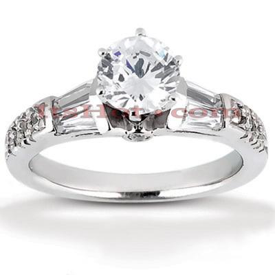 14K Gold Diamond Engagement Ring Mounting 0.33ct