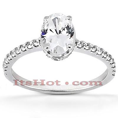 14K Gold Diamond Engagement Ring Mounting 0.34ct
