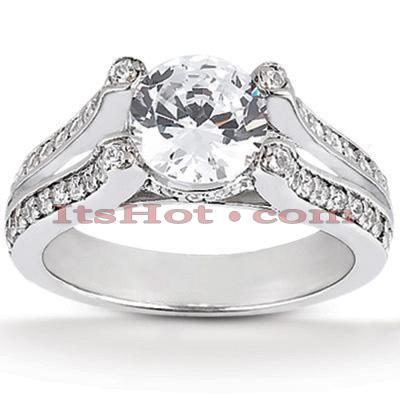 14K Gold Diamond Engagement Ring Mounting 0.35ct