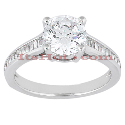 14K Gold Diamond Engagement Ring Mounting 0.37ct